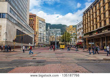 Downtown Bogota And Transmilenio