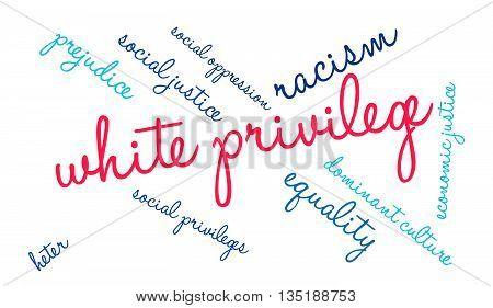 White Privilege Word Cloud