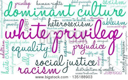 White Privilege Word Cloud