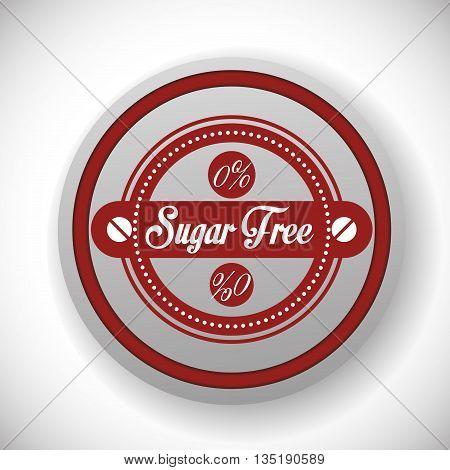 No sugar or sugar free graphic design, vector illustration eps10