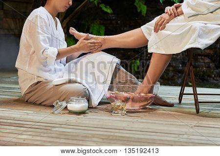 Asian Foot Massage Salts Gentle Spa Treatment
