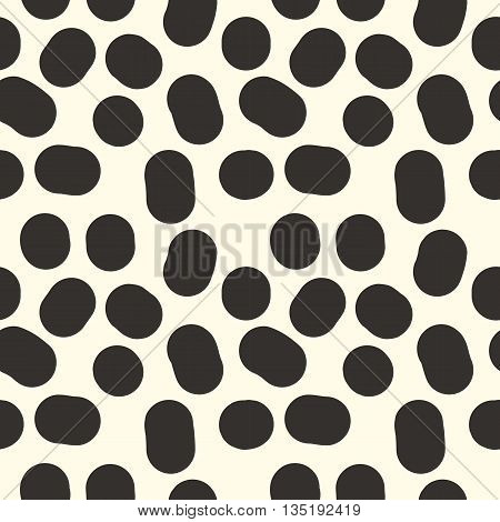 Seamless pattern from black cow spots arbitrary repeating points