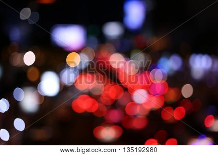 Blur traffic with a bokeh, blurred background