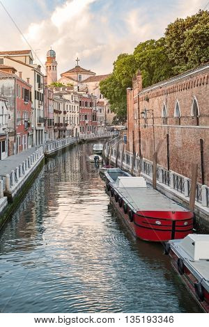 Grand Canal scenery in antique Venice