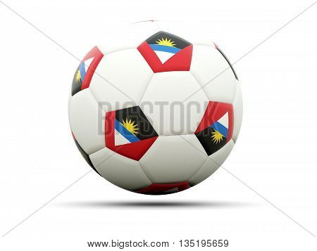 Flag Of Antigua And Barbuda On Football