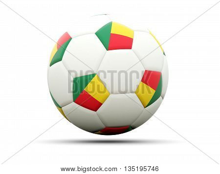 Flag Of Benin On Football