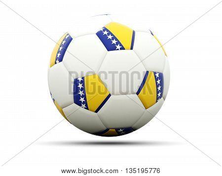 Flag Of Bosnia And Herzegovina On Football