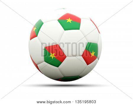 Flag Of Burkina Faso On Football
