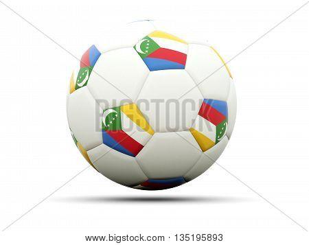 Flag Of Comoros On Football