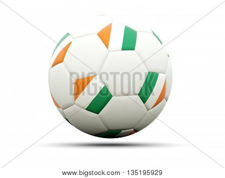Flag Of Cote D Ivoire On Football