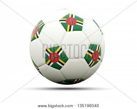 Flag Of Dominica On Football