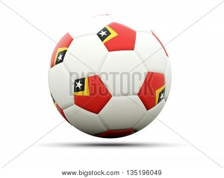 Flag Of East Timor On Football