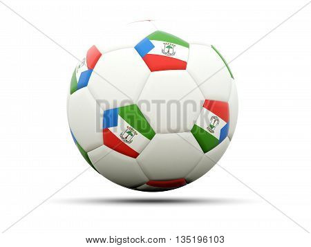 Flag Of Equatorial Guinea On Football