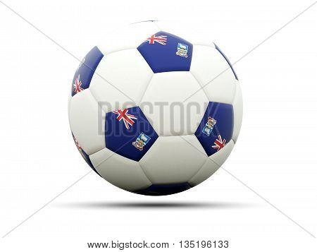 Flag Of Falkland Islands On Football