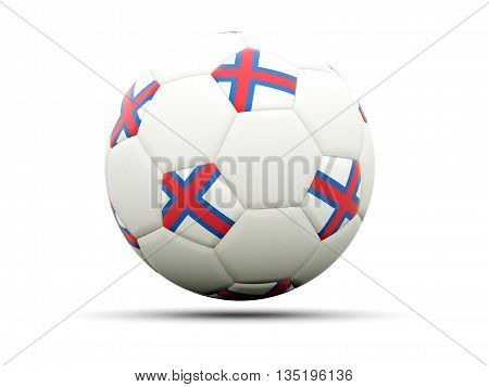 Flag Of Faroe Islands On Football