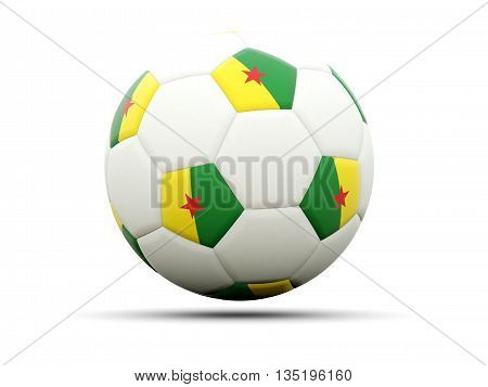 Flag Of French Guiana On Football