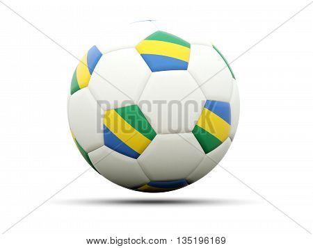 Flag Of Gabon On Football