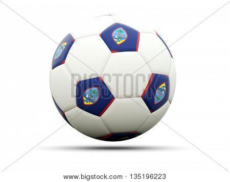 Flag Of Guam On Football
