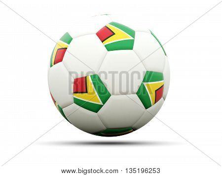 Flag Of Guyana On Football
