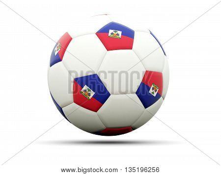 Flag Of Haiti On Football