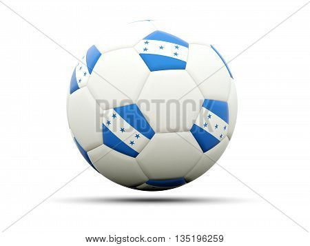 Flag Of Honduras On Football