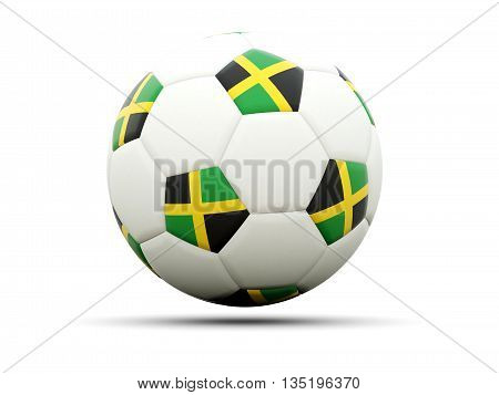 Flag Of Jamaica On Football