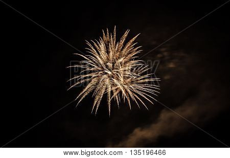 a fireworks explosion on the fourth of july