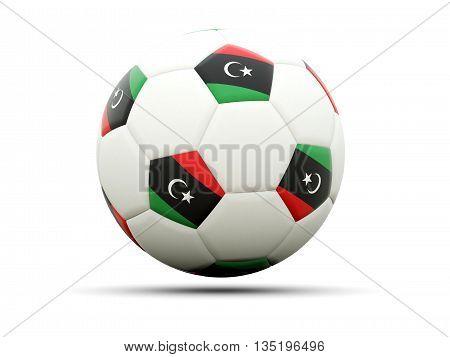 Flag Of Libya On Football