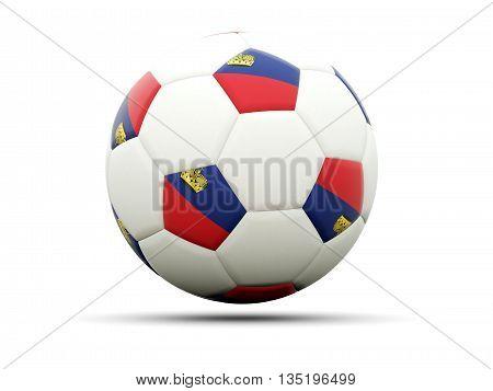 Flag Of Liechtenstein On Football