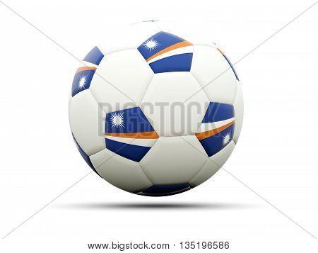 Flag Of Marshall Islands On Football