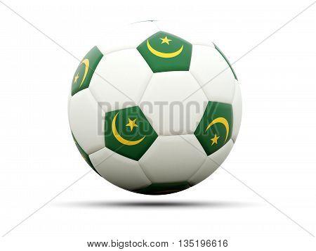 Flag Of Mauritania On Football