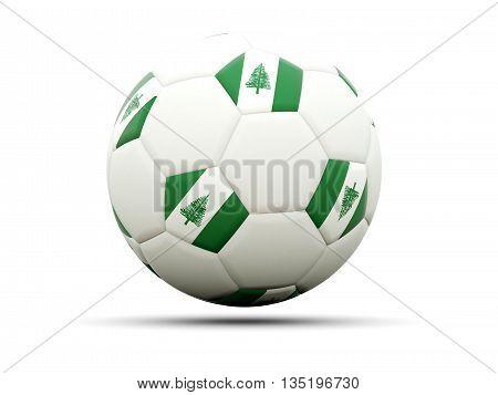 Flag Of Norfolk Island On Football