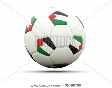Flag Of Palestinian Territory On Football