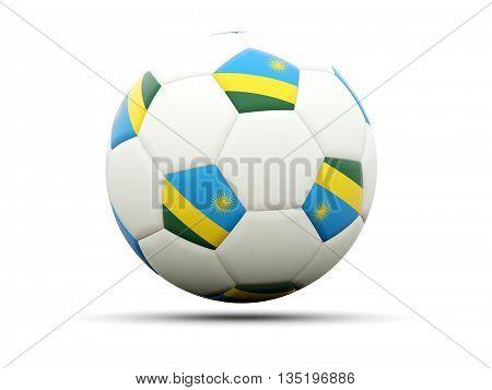 Flag Of Rwanda On Football
