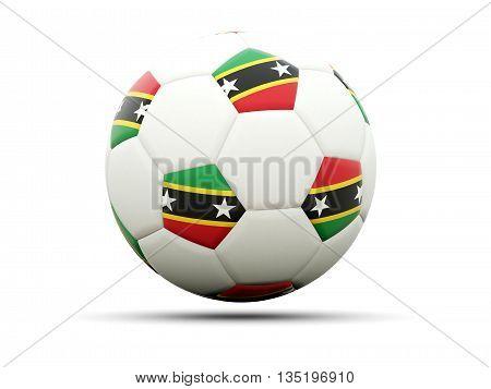 Flag Of Saint Kitts And Nevis On Football