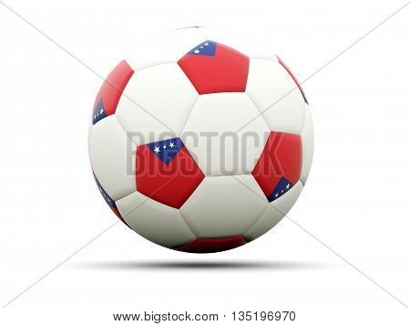 Flag Of Samoa On Football