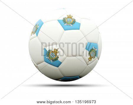 Flag Of San Marino On Football