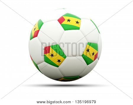 Flag Of Sao Tome And Principe On Football