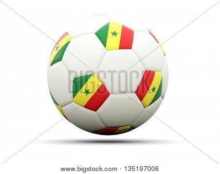 Flag Of Senegal On Football