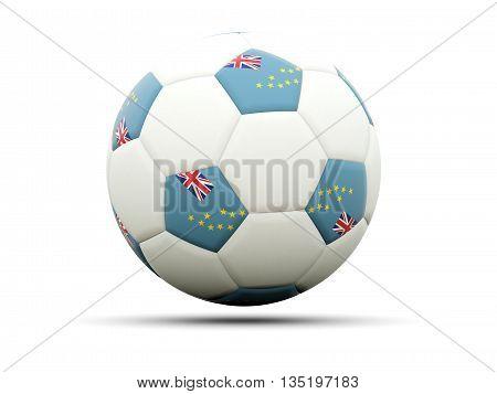 Flag Of Tuvalu On Football
