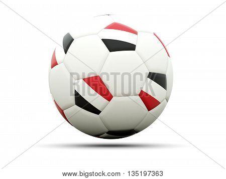 Flag Of Yemen On Football