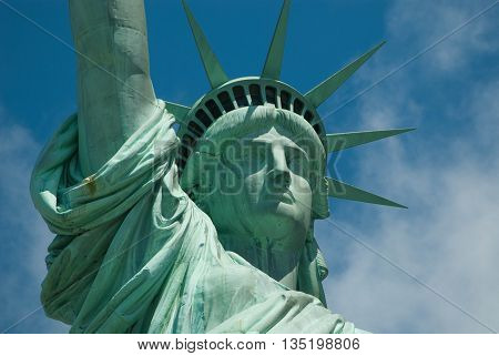 The beautiful Lady Liberty in New York City