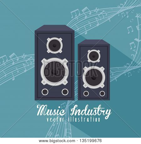 large speakers isolated icon design, vector illustration  graphic