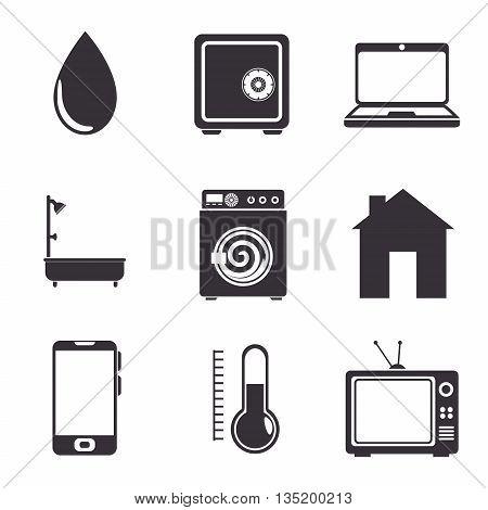 mobile application menu isolated icon design, vector illustration  graphic