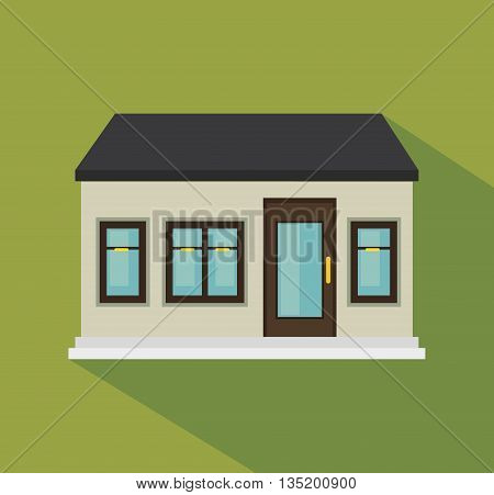 beautiful mansion isolated icon design, vector illustration  graphic