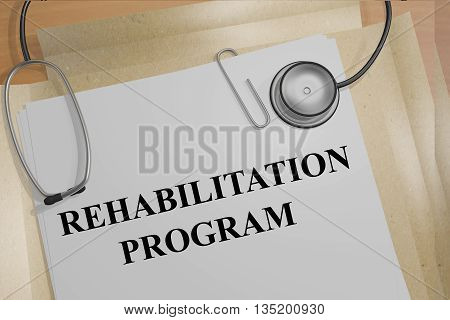 Rehabilitation Program Medical Concept