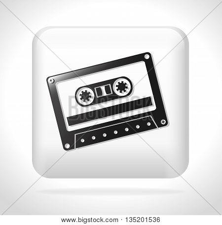 cassette tape icon design, vector illustration  graphic