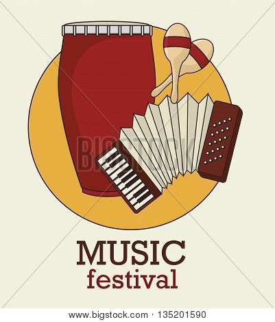 musical festival with instruments isolated icon design, vector illustration  graphic