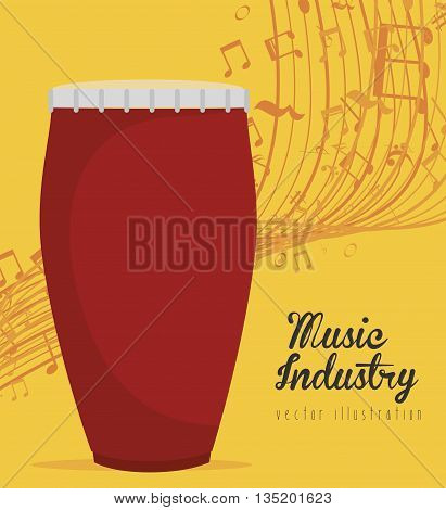 bongo percussion instrument isolated icon design, vector illustration  graphic