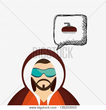 Winter concept with icon design, vector illustration 10 eps graphic.